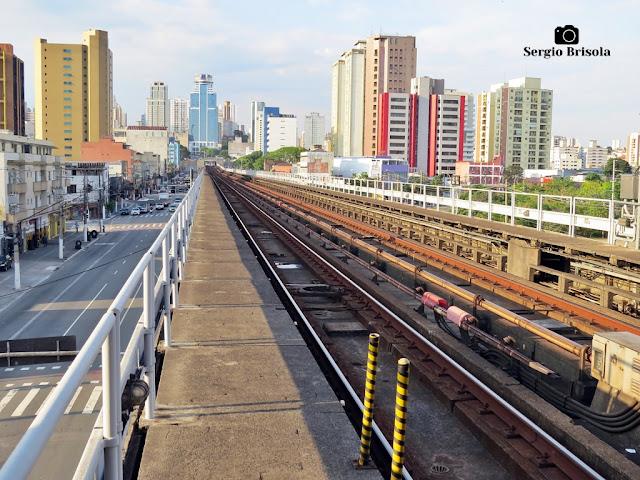 Vista ampla de trecho dos Trilhos do Metrô - Zona Norte - São Paulo