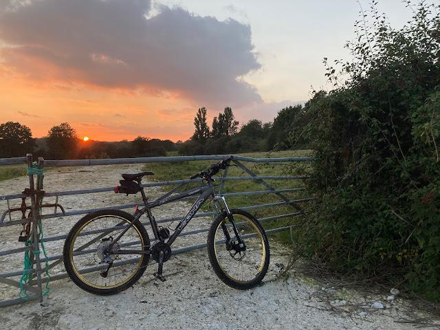 sunset over Blethchingly