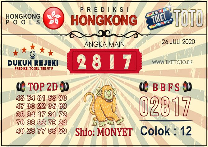 Prediksi Togel HONGKONG TIKETTOTO 26 JULI 2020