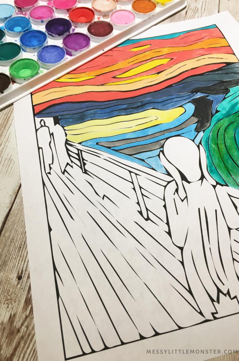 Edvard Munch The Scream - famous artists for kids