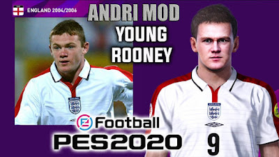 PES 2020 Faces Wayne Rooney by Andri Mod