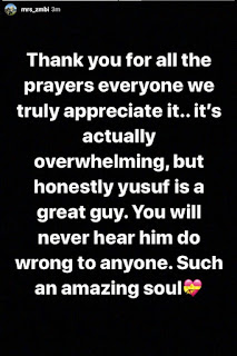 """Yusuf is great guy. You will never hear him do wrong to anyone"" - Zahra Buhari-Indimi"