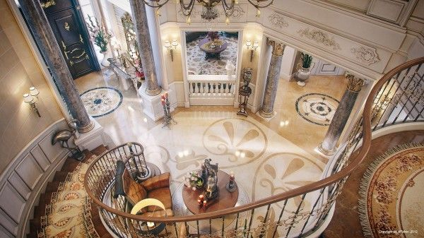 staircase newel design