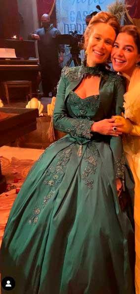 vestido verde do seculo XIX