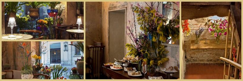 Un encantador establecimiento donde se puede tomar un café, comer o cenar, y comprar una planta o un exquisito ramo de flores.