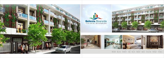 Thiết kế kiến trúc nhà vườn liền kề Gelexia Riverside