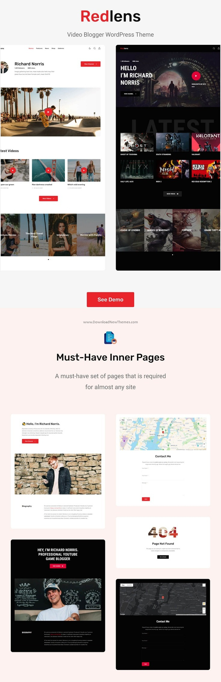 Video Blogger WordPress Theme