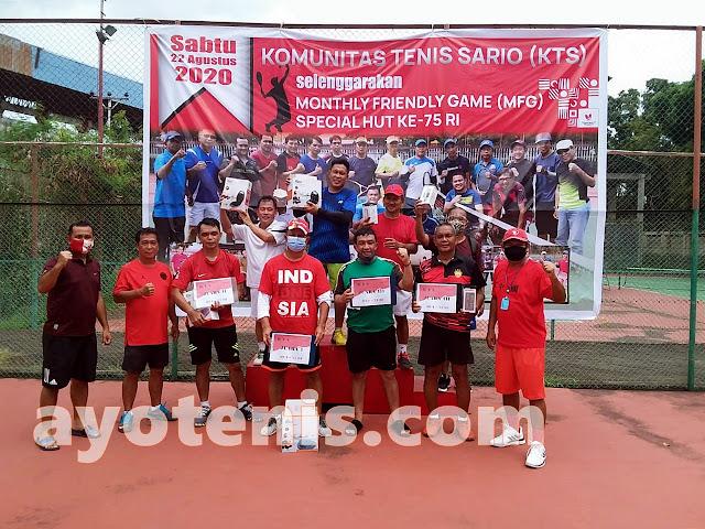 Tenis Sulawesi Utara Mulai Menggeliat, KTS Manado Gelar MFG Edisi Spesial HUT ke-75 RI