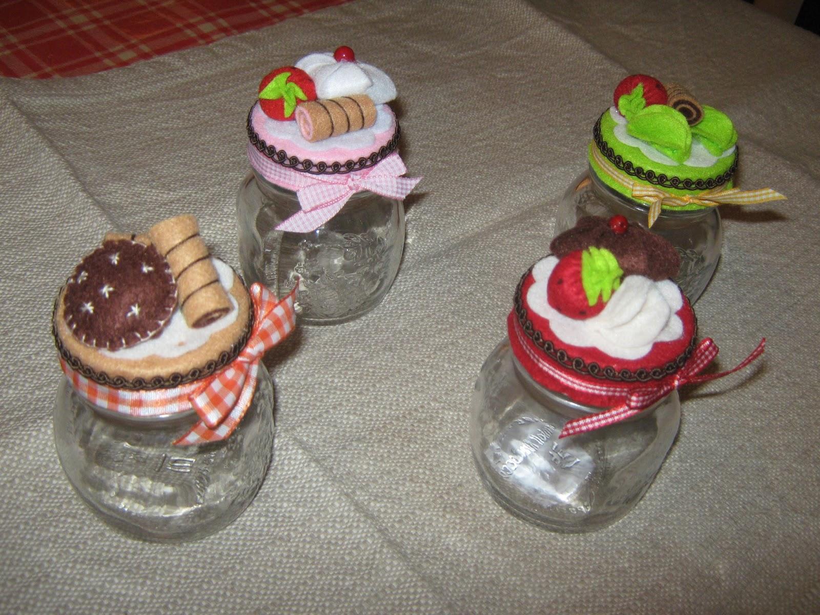 I dolci di marilina barattoli in vetro decorati con - Barattoli vetro decorati ...