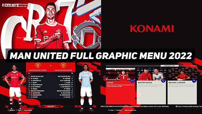 Graphic Menu Manchester United For PES 2017