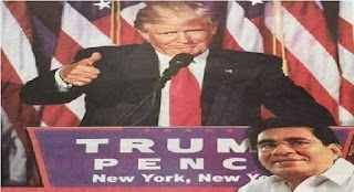Mervyn Silva Congratulates Trump In Sinhalese Newspaper Advertisement