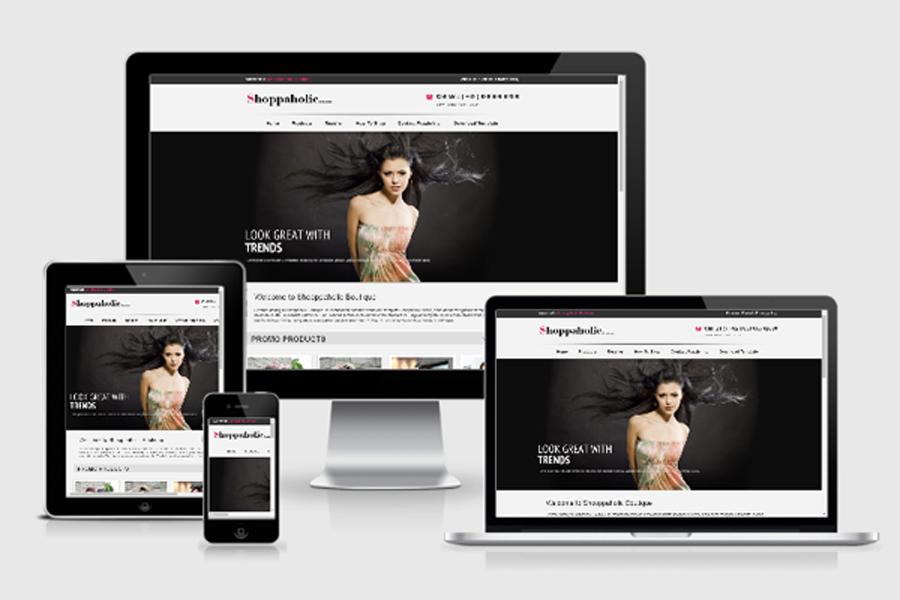 Template toko online Shopaholic