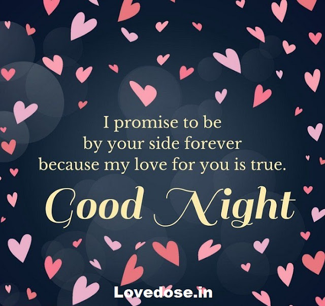 Good night love quotes images for her