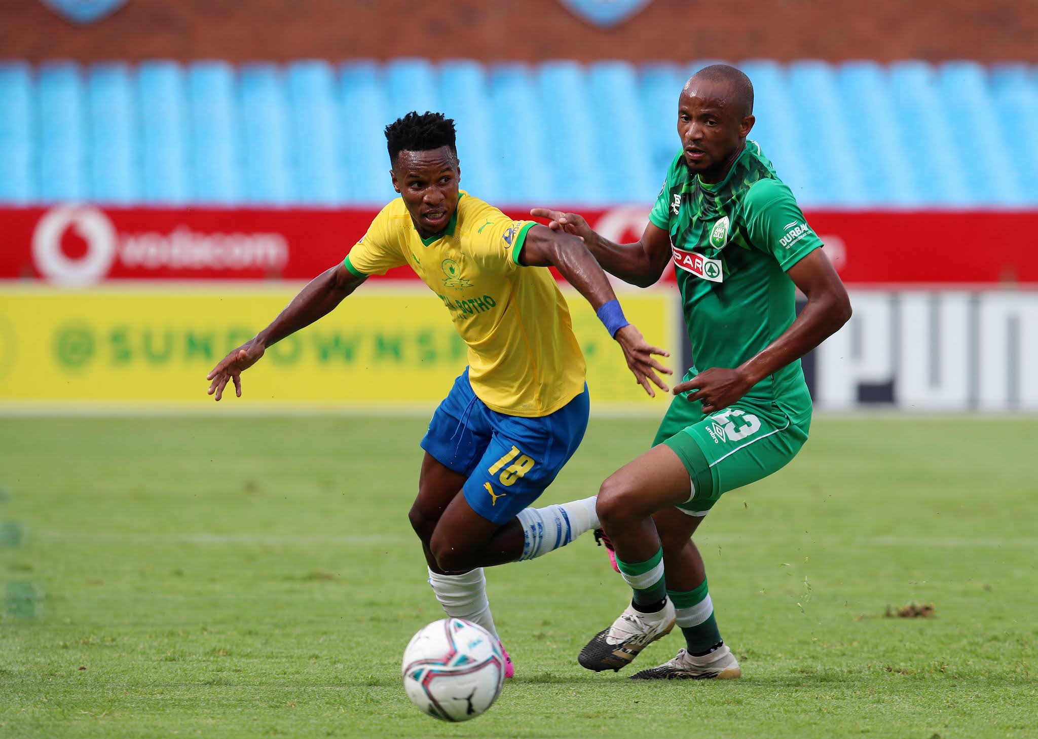 Themba Zwane in action against AmaZulu