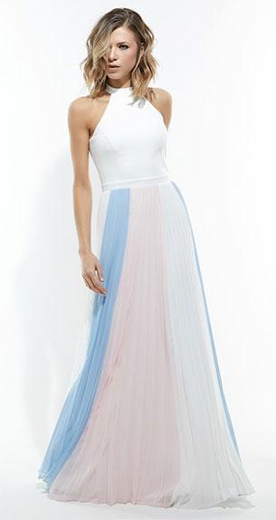 Iorane coleção verão 2018 vestido longo plissado