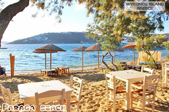 Paraga beach photos Mykonos island.Paraga plaza slike Mikonos ostrvo.
