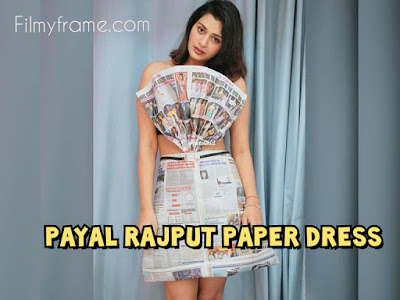 Payal Rajput in a Paper dress