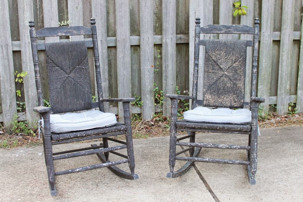 Paint Are Two Rocking Chairs That Were Given To Me By A Neighbor.