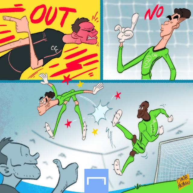 Edouard Mendy Kepa Arrizabalaga cartoon
