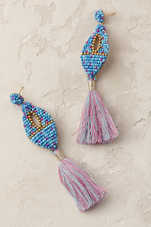 Make a splash in these statement earrings - Fringed Drop Earrings - Anthropologie - Jewellery Summer Holiday