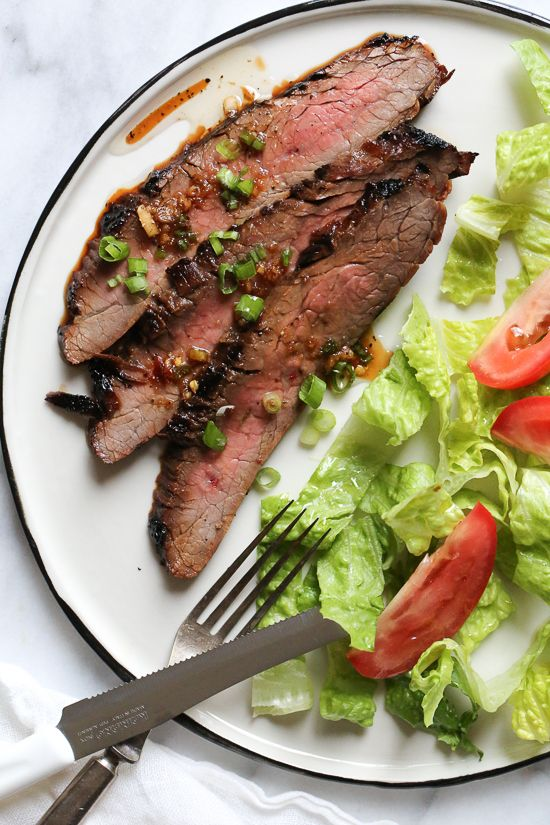 SOY MARINATED FLANK STEAK