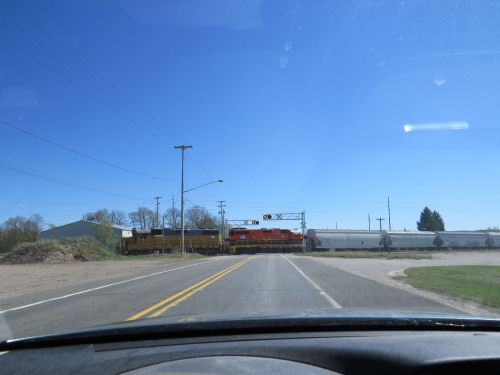 train at a crossing gate