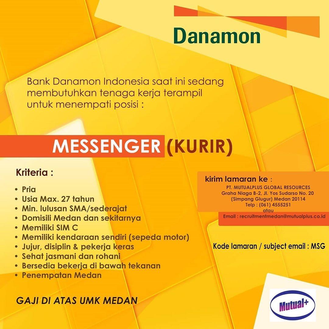 Lowongan Kerja Sma Smk Di Pt Bank Danamon Indonesia Medan Februari