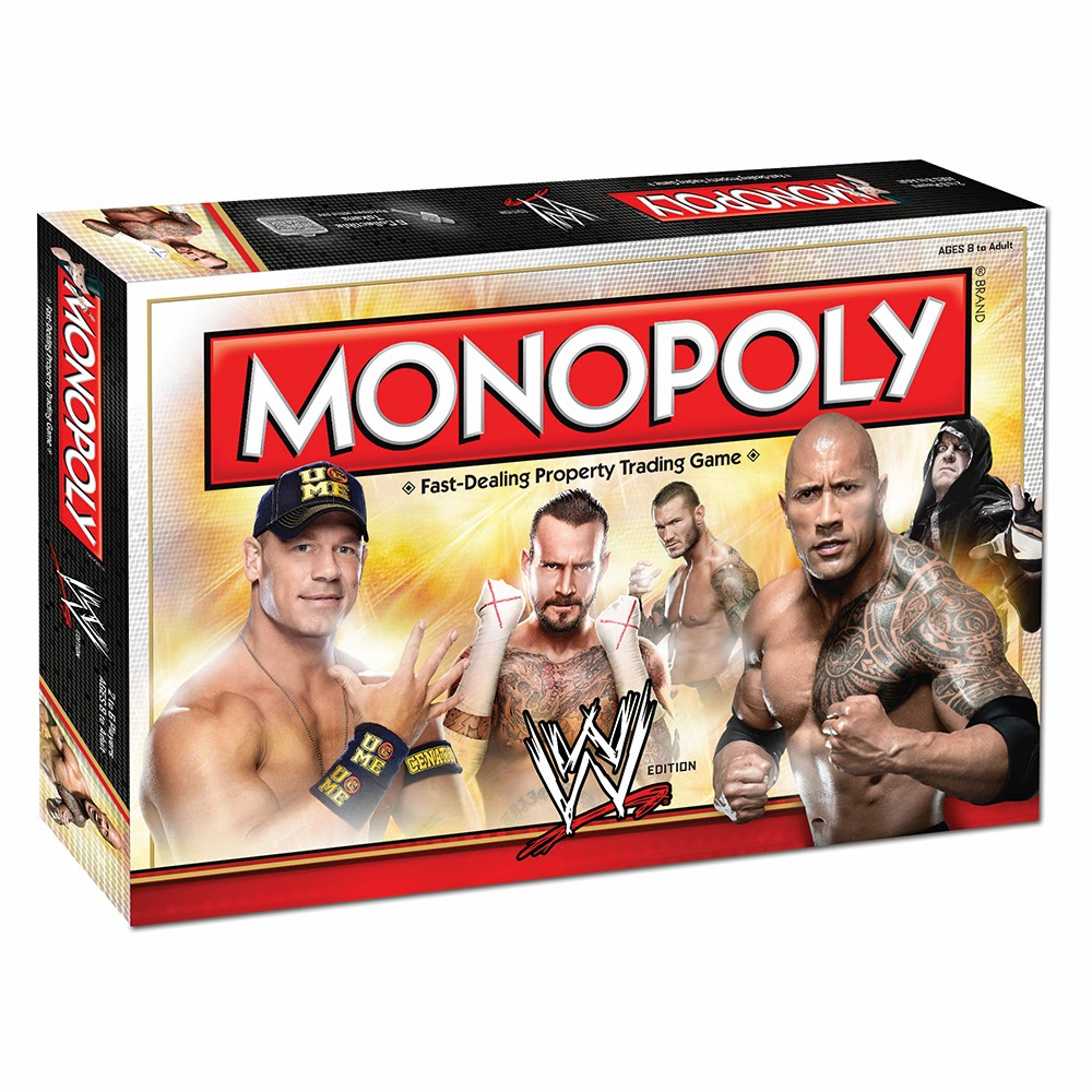 Enter the WWE Monopoly Giveaway. Ends 1/3/15.