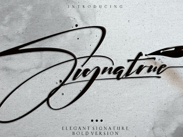 Signatrue Elegant Signature Taste Free Download
