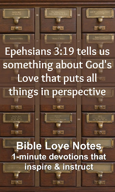 It's important to remember this Bible truth about God's Love