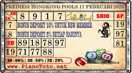 Prediksi Togel Hongkong 17 Februari 2020 - Prediksi Piano Toto