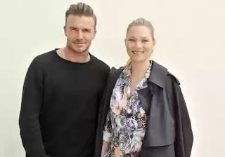 David Beckham at Louis Vuitton men's wear fashion