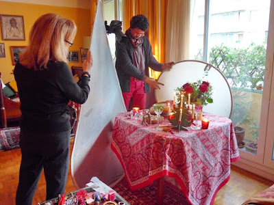 Photographing a Christmas Meal for French Country Diary 2021