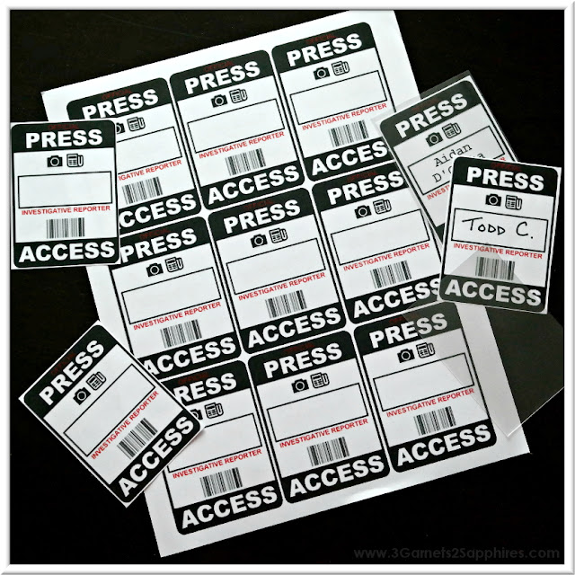 DIY press passes how-to plus free printable  |  www.3Garnets2Sapphires.com