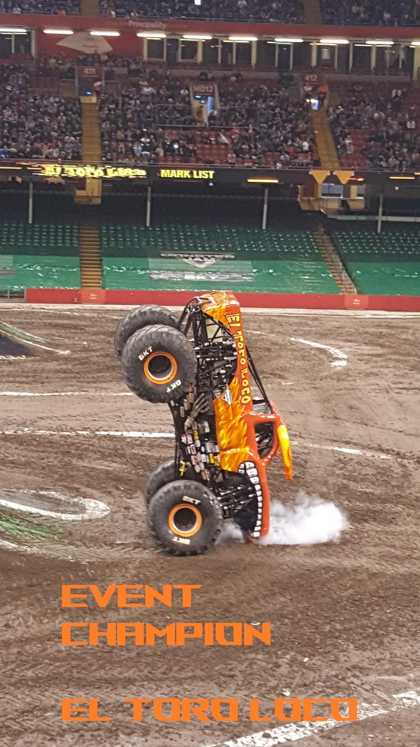 EVENT CHAMPION  El Toro Loco Cardiff Monster Trucks 2019