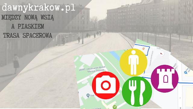 Między Nową Wsią a Piaskiem - subiektywna trasa spacerowa z Google Maps