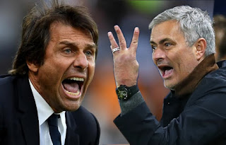 EPL: Mourinho, Conte keep mum over touchline row