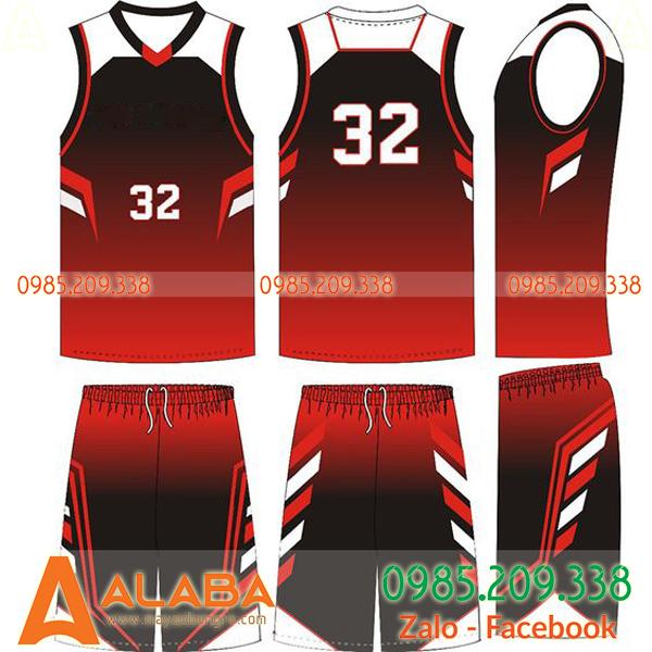 Áo bóng rổ màu đỏ đen 2019 hot nhất