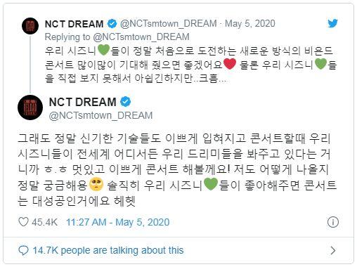 tweet nct dream