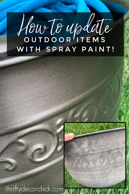 Tips for updating outdoor decor with spray paint