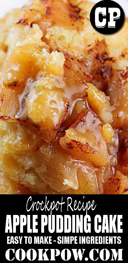 #CROCKPOT APPLE PUDDING #CAKE