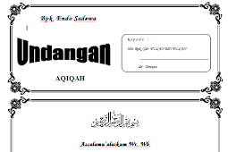 150 Contoh Undangan Aqiqah, Kawinan, Tahlilan, Ulang Tahun, Tonjokan, Kenduri Bisa Diedit Word