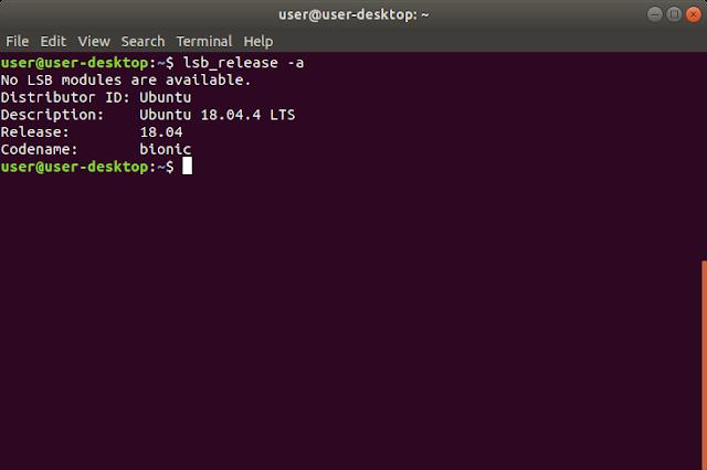Cek versi Ubuntu Linux