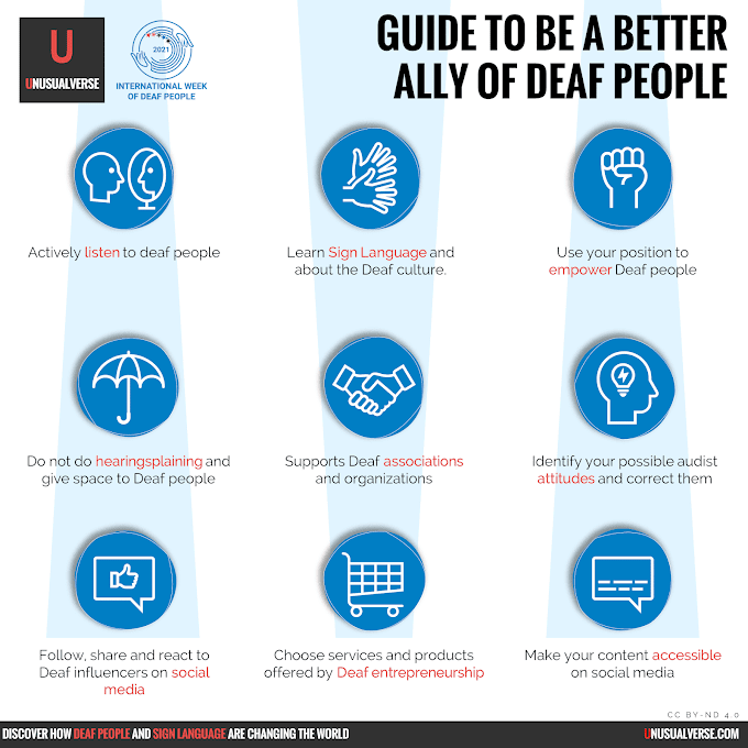 Infographic: Guide to Be a Better Ally of Deaf People