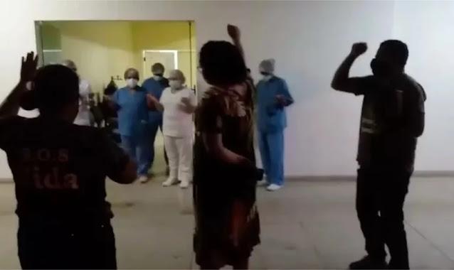 """Mulher diz que pai teve 50% de melhora após campanha em hospital: """"Poder da oração"""""""