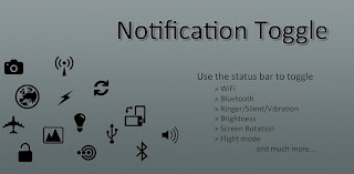 Notification toggle App
