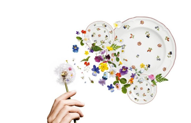 Dishes and Tableware With Flowers 3