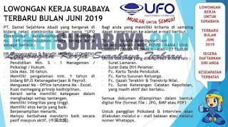 Lowongan Kerja Surabaya Terbaru di PT. Damai Sejahtera Abadi Juni 2019