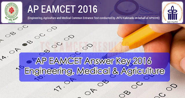 AP EAMCET Answer Key 2016