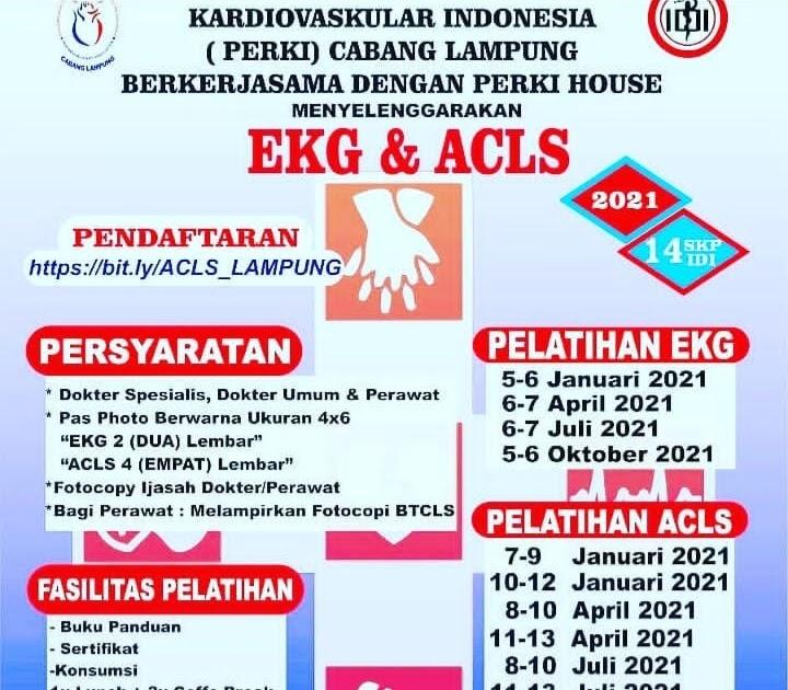 Jadwal ACLS PERKI Lampung Tahun 2021